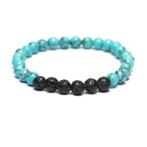 Jewelry - 2/$20▪️Turquoise & Lava Stone Bracelet